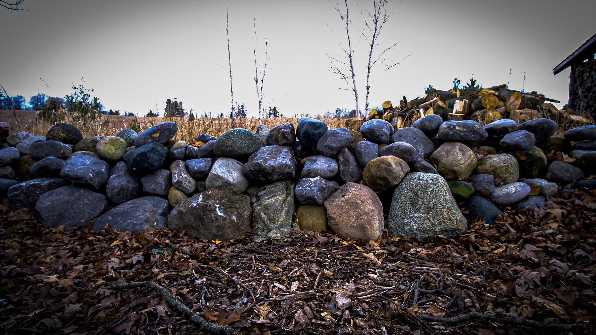 Rock Wall at the Farm