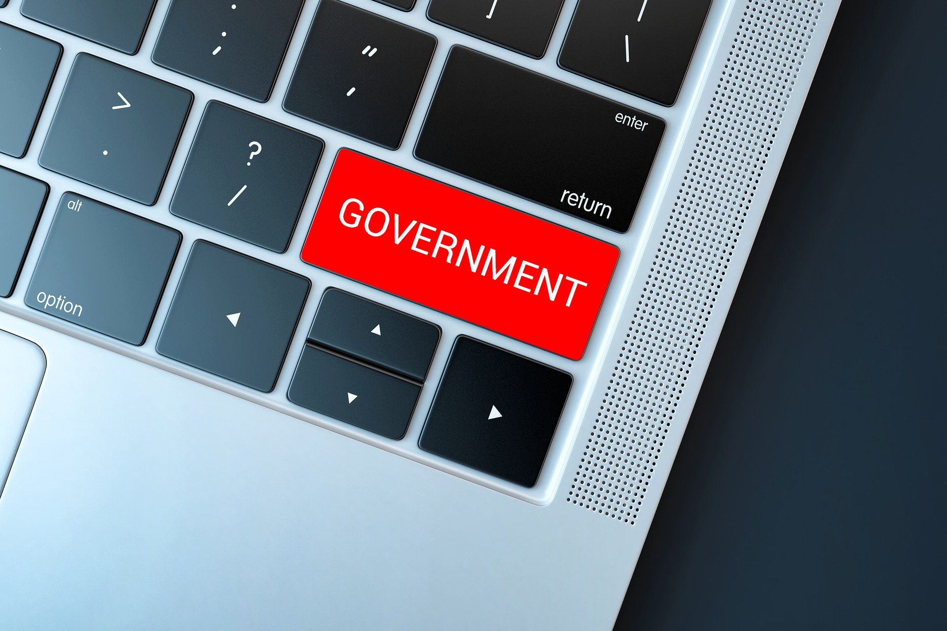 keyboard - red button - government